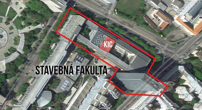 Obr. 1 Umiestnenie priestorov KIC v rámci Stavebnej fakulty STU v Bratislave d60a97f8b4a